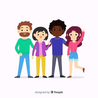 Kinder posieren für ein foto