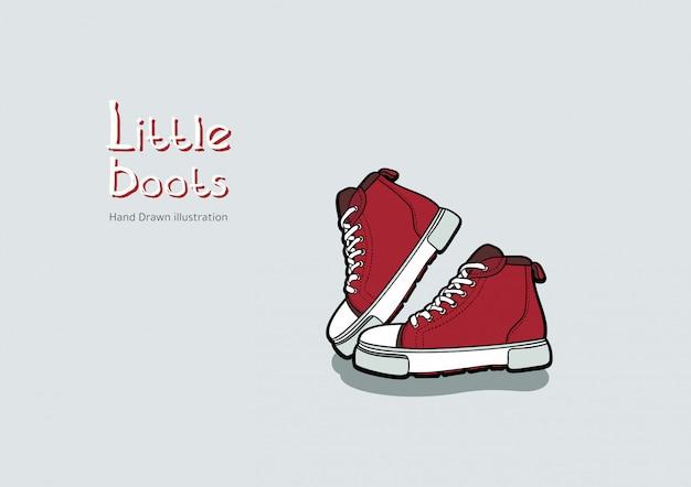 Kinder rote stiefel