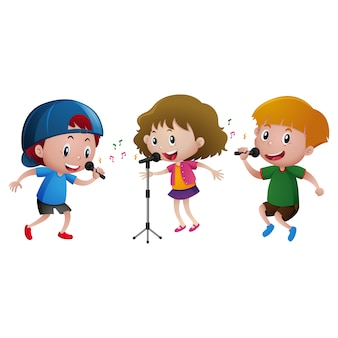 Kinder singen design
