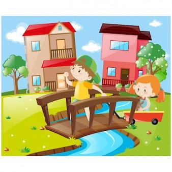 Kinder spielen design