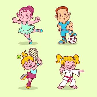 Kinder sport hobbys