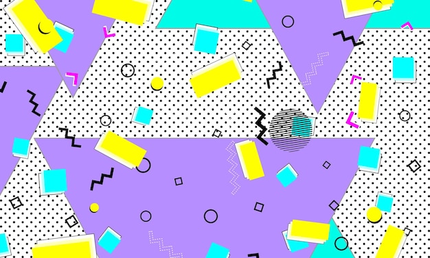 Kinder ultramarin art.-nr. lavendelfleckige zeichnung. linienbanner. zitrone dekor. dekoratives muster. lila 80er jahre komposition. türkis-poster. coole tapete.