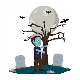 Kinder- und halloween-cartoon