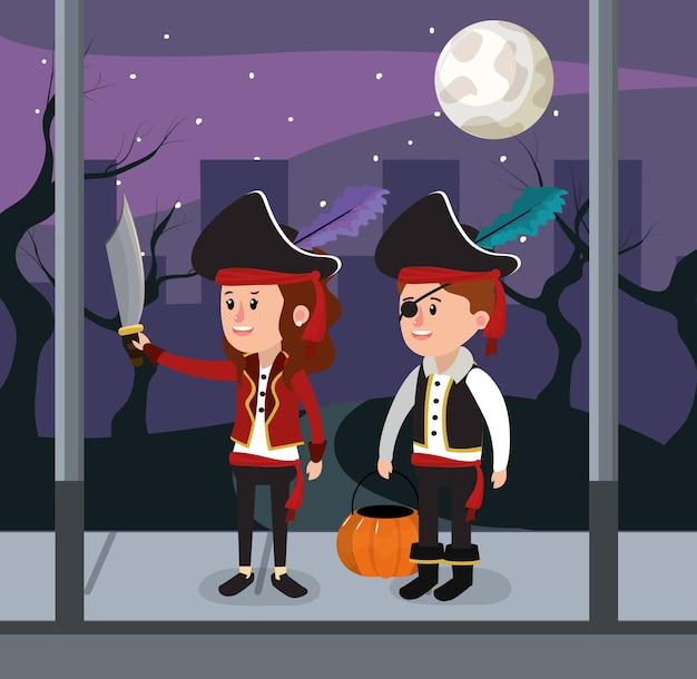 Kinder und halloween custome