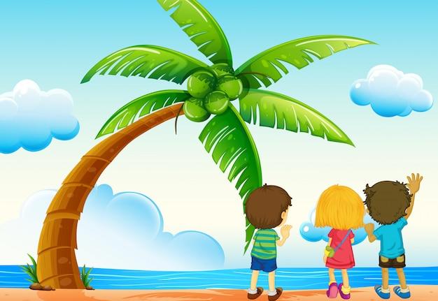 Kinder und strand