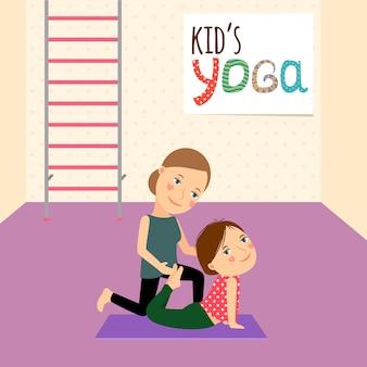 Kinder yoga mit lehrer