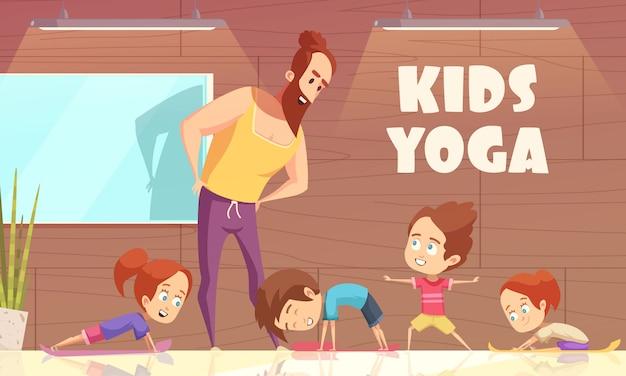 Kinder yoga-training