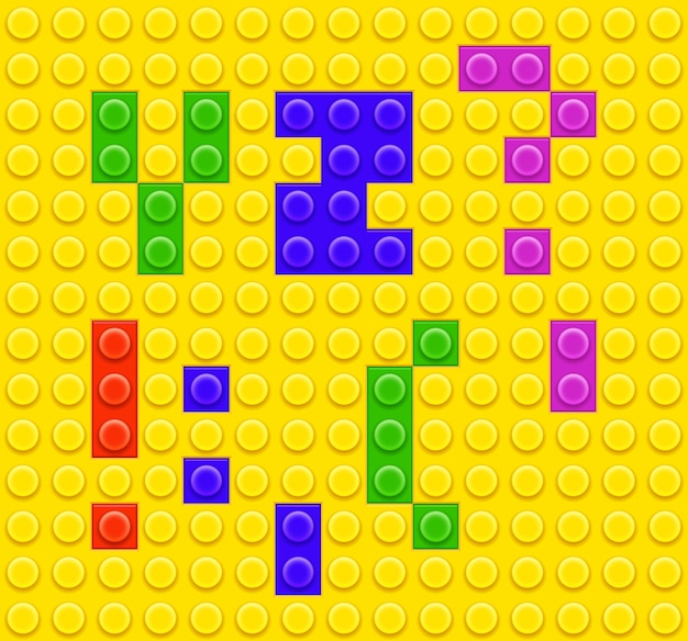 Kinder ziegel spielzeug alphabet und symbole