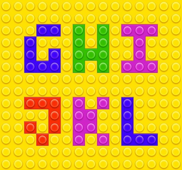 Kinder ziegel spielzeug alphabet