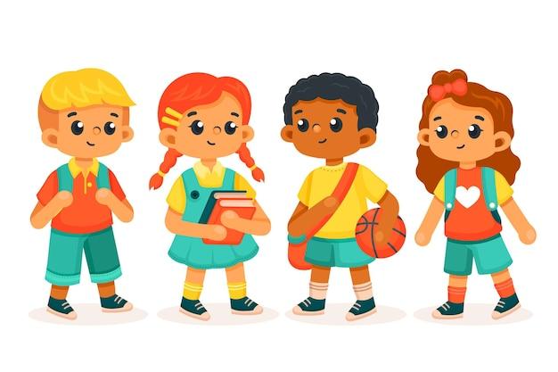 Kinder zurück in die schule