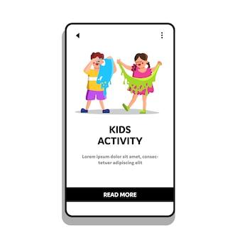 Kinderaktivität und lustige freizeitspielzeit