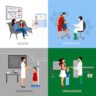 Kinderarzt-design-konzept