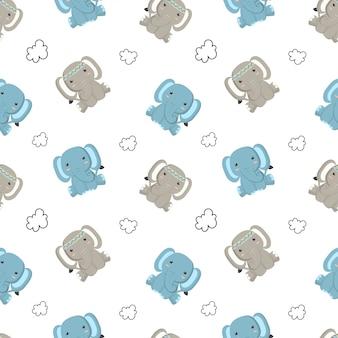Kinderbabymuster des niedlichen elefanten