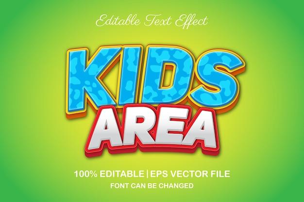 Kinderbereich 3d bearbeitbarer texteffekt