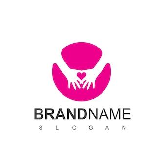 Kinderbetreuung logo-design-vorlage