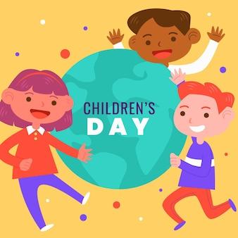 Kinderdesign-konzept der flachen entwurfswelt