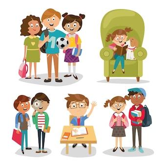 Kinderfiguren von menschen