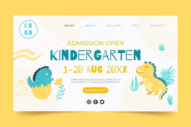 Kindergarten landing page