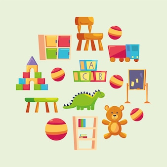 Kindergarten symbole gesetzt