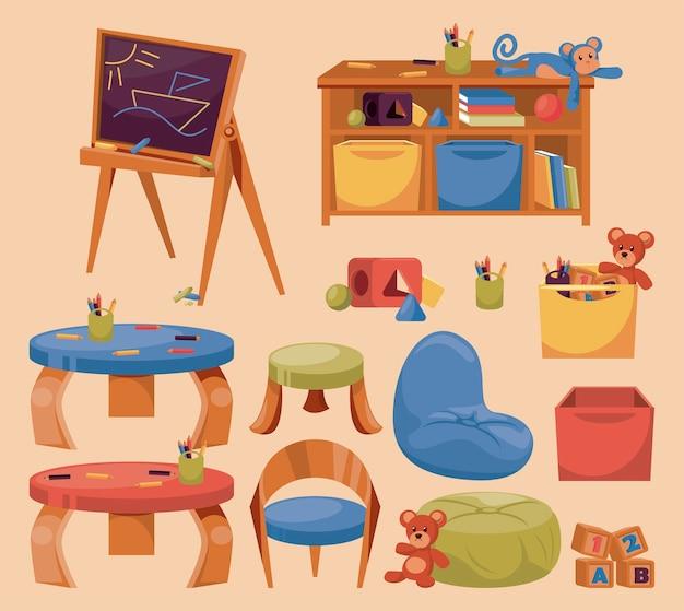 Kindergartenelemente gesetzt