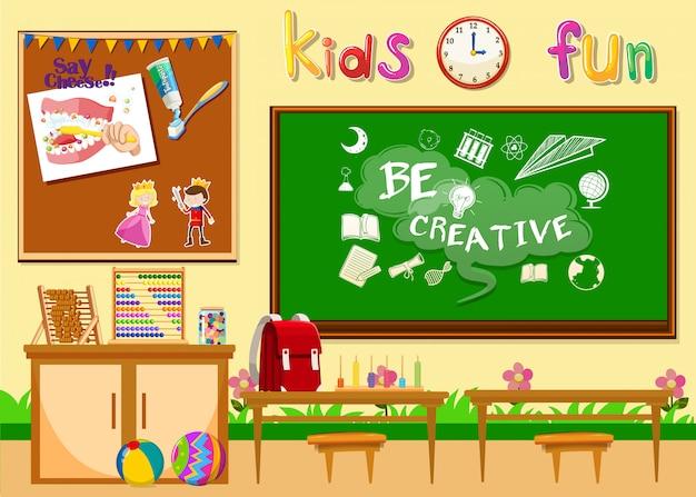 Kindergartenklassenzimmer ohne kinder
