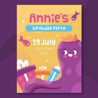 Kindergeburtstagskartenschablone mit fotodesign