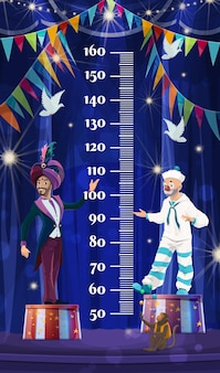 Kindergrößentabelle, shapito-zirkus. wachstumsmaß meter lineal