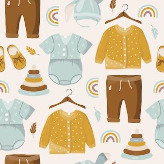 Kinderkleidung nahtloses muster.