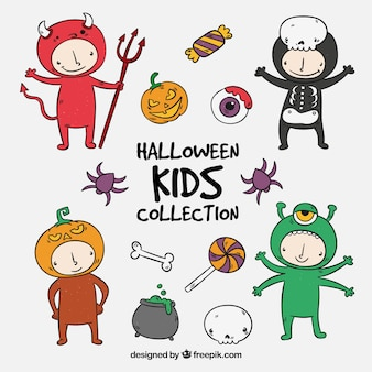 Kinderkostüm mit halloween-partykostümen
