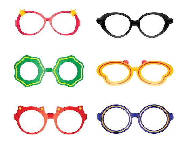 Kinderparty-cartoon-brille