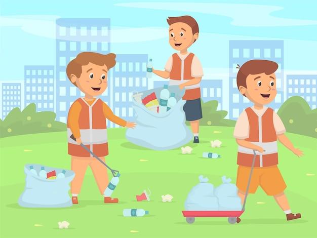 Kinderreinigung aktivitätskonzept