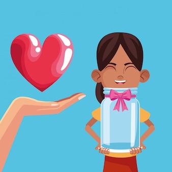 Kinderspende und wohltätigkeitsorganisation