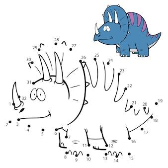 Kinderspiel punkt für punkt dinosaurier