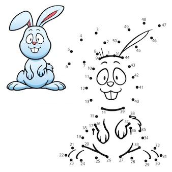 Kinderspiel punkt für punkt rabbit