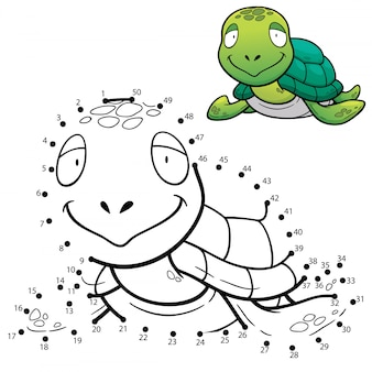 Kinderspiel punkt für punkt turtle