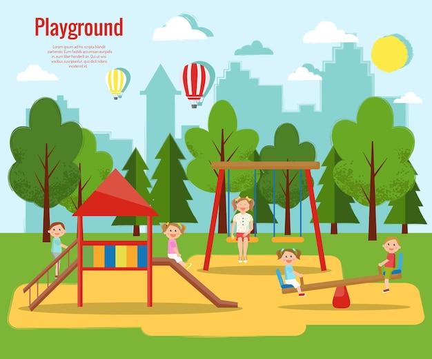 Kinderspielplatz aktivitäten für kinder,
