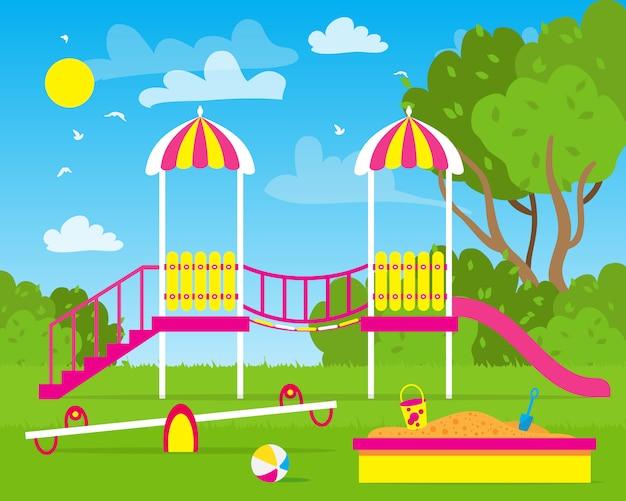 Kinderspielplatz.