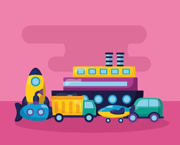 Kinderspielzeug illustration