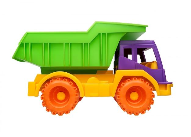 Kinderspielzeug-lkw-illustration auf einem weiß lokalisiert