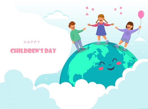 Kindertagesgestaltung mit freudigen kindern
