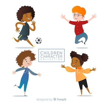 Kindertags-charaktersammlung