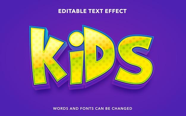 Kindertext bearbeitbarer texteffektstil