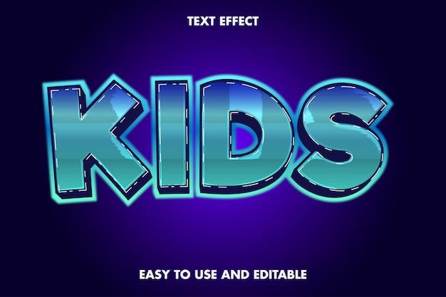 Kindertext-effekt. bearbeitbarer schriftstil.