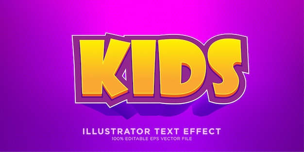 Kindertext effekt design illustrator stil