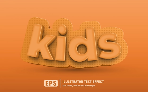 Kindertext-effekt - editierbar