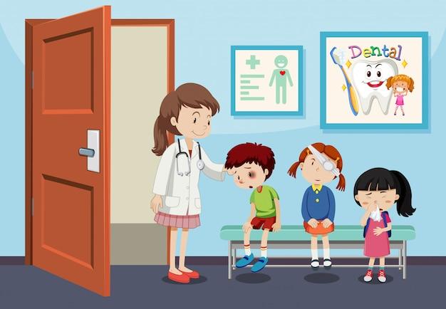 Kinderverletzung im krankenhaus