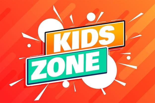 Kinderzone party hintergrunddesign