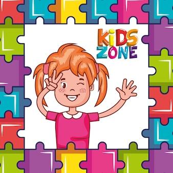 Kinderzone poster symbol
