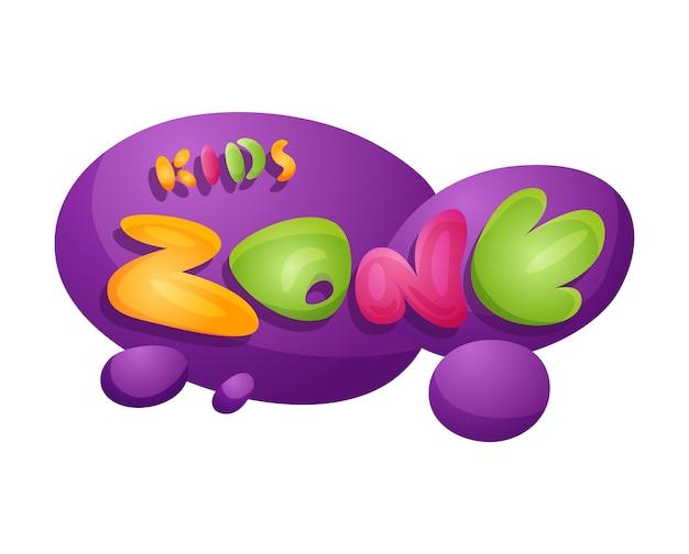 Kinderzone spielzimmer banner im cartoon-stil für kinder spielzone