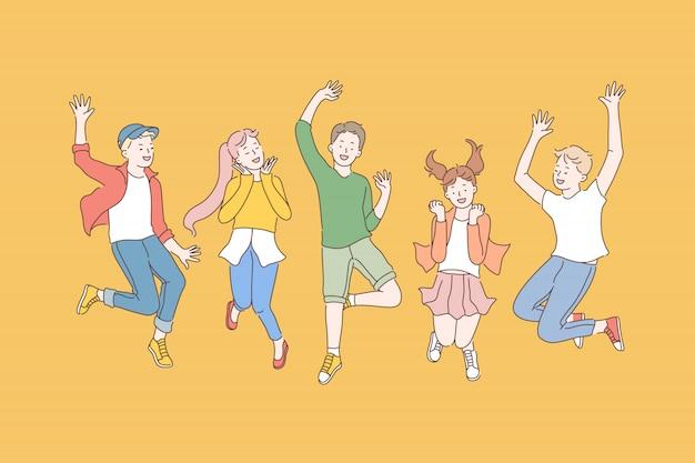 Kindheit, freundschaft, party